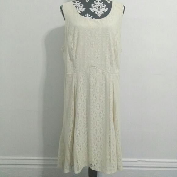 Maurices Dresses Ivory Crochet Lace Plus Size Dress Poshmark
